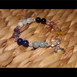 Chakra bracelet 7 semiprecious crystals